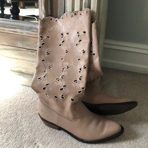 Lucky Brand Sand Leather Boots